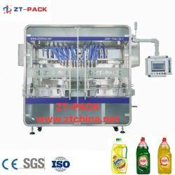 자동 세제 충전 포장 기계에서 식기세척기로 세탁할 경우 20% 할인 액체 비누 살균기 겔 샴푸 병 충전 포장 기계 필러