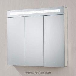 棚が付いているLEDによってつけられる浴室の常備薬戸棚の遅く近いヒンジの拡大ミラーアルミニウムフレーム2/3のドア