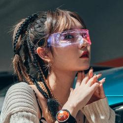 نظارات مضيئة مزودة بتقنية الاستشعار بالكاميرا مزودة بتقنية Cyberpunk المستقبلية بتقنية LED Sci-fi