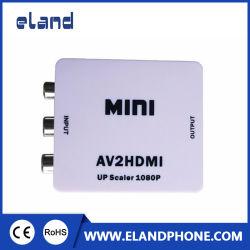 RCA a HDMI, 1080P mini RCA CVBS composito avoirdupois al video audio adattatore del convertitore di HDMI che supporta PAL/NTSC con il cavo della carica del USB