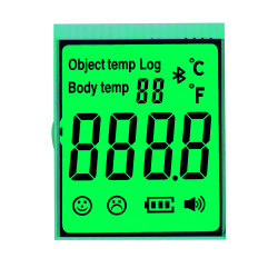 緑の背景 Tn HTN Stn モノクロ温度計 LCD ディスプレイ