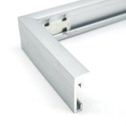 Vente chaude aluminium argenté Album Photo Cadre Photo en métal moderne pour la décoration d'accueil