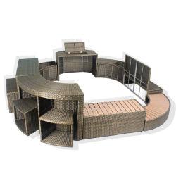 Jardin patio canapé lit de repos en plein air ensemble moderne de meubles en rotin