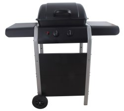 Dos de gas de quemador de barbacoa con grandes Side-Table Barbacoa de gas doméstico con carro LFGB CE