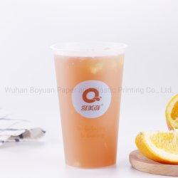 Copo de plástico PP personalizados para bebidas frias Sumo de Cola Taças descartáveis de chá de leite