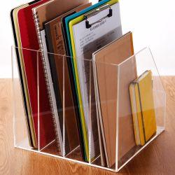 Office Useのための立つClear Acrylic A4 Quadruple Folder