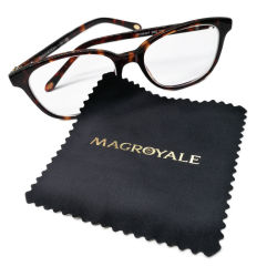Горячая штамповка очки из микроволокна с логотипом стеклоочистители тканью