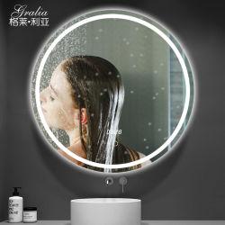 Specchio astuto decorativo dell'hotel LED con tempo & con il sensore di tocco