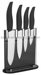 4PCS керамические/фарфора комплекта ножей с подставкой для кухонных
