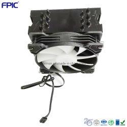 أنابيب الحرارة CPU RGB مروحة امتصاص حرارة الأجزاء الألومنيوم طبقة الحرارة مبرد الهواء