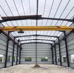 Portal Frame Staalconstructie Bouw voor geprefabriceerd magazijn/Commercieel Werkplaats/Industriële opslag schuur/metalen garage fabriek