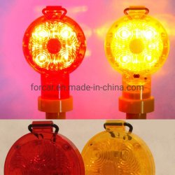 태양 강화된 소통량 자동점멸장치 바리케이드 램프 휴대용 LED 점화 경고 램프 비상사태 스트로브 빛