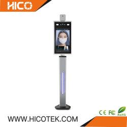 顔認識の額の手首の温度のパネルのスキャンナーIDのカード読取り装置Ai CCTV IPの熱赤外線双眼出席のアクセス制御カメラ