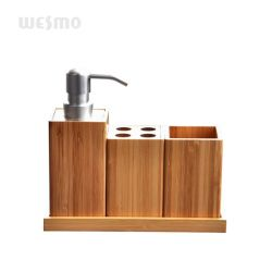 환경에 친절한 건류된 대나무 목제 호텔 가구 목욕탕 부속품 제품 목욕 세트