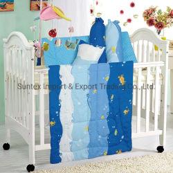100% algodón 180/200 Hilos de la Cuna de bebé ropa de cama 4 PCS Conjunto consolador