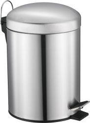 Poubelle en acier inoxydable avec couvercle dôme, Corbeille, poubelle à pédale