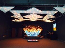 Ecran rideau LED flexible créatif d'intérieur P2 P4 incurvé pour Trames de formes irrégulières