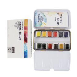 도매 저가 편지지 제품 쉬운 색칠 솔리드 페인트 세트 탑 고품질 수채화