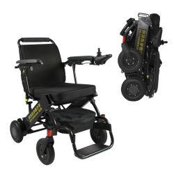 Carreras electromagnético Deporte Baloncesto peso ligero de aleación de aluminio freno Scooter de movilidad eléctrica de alimentación plegable silla de ruedas eléctrica para los viajes CE, ISO13485