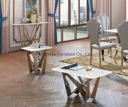 100cm 길이의 라운지 바 응접실 현대적인 대리석 티 커피 테이블
