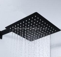 Haut de douche en acier inoxydable pour l'hôtel Salle de bains avec un carré de conception et de tailles différentes