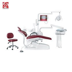 Sedia dentale portatile Vendita a caldo Produttore Dental Unit funzionamento a LED Carrello lampada