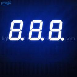 شاشة LED مخصصة من ثلاثة أرقام مخصصة متوافقة مع RoHS بيضاء مع تجانس جيد للسطوع
