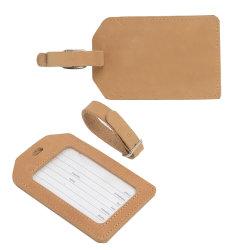 Forme personnalisée Sac de cuir véritable Luggage Tag Tags étiquettes à bagages Tag
