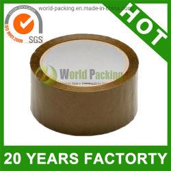 Brown BOPP sellado cinta adhesiva de embalaje caja