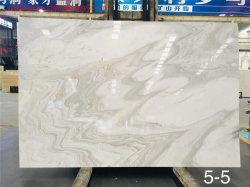 中国の天然石材研究所は白 Rhinoceros 大理石を研磨した バスルームの床 / 壁のタイルのカウンタートップ / 化粧台の上