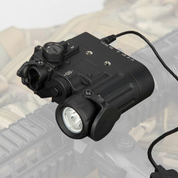 Lanterna de armas tácticas Dbal-D2 com o objetivo de Feixe Duplo Verde Laser W/Projector LED INFRAVERMELHO HK15-0074 Classe 1