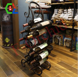 Tenacidade Alta qualidade estilo europeu ferro artesanal grande Vinho Rack para muitos Suporte para garrafas
