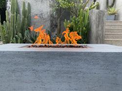 Gas propano de patio de hormigón de 42 pulgadas Fogata Firepit Tabla con rocas de lava