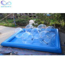 Família Piscina Inflável Piscina de água infláveis piscina de bolas de água de caminhada da Praça Inflável Piscina para crianças de adultos
