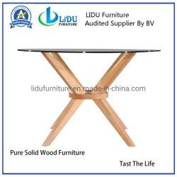 Melhor Venda mesas de café redonda de madeira mesa lateral simples a extremidade redonda de vidro de mesa Tampo da Mesa Retangular