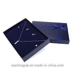 Cuadro de conjunto de joyas de papel rígido de cartón Caja de regalo la unidad de visualización