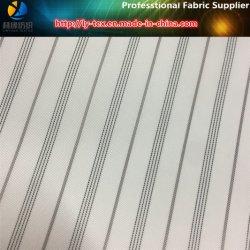 Tissu teinté en fil à rayures Twill, doublure en mousse blanche en gros (S106.109)