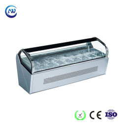 Sorvete comercial Freezer Gelato frigorífico (F-QV660A-W)