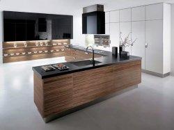 Armadio da cucina libero moderno personalizzato di disegno con il nero Laquer della miscela di MFC