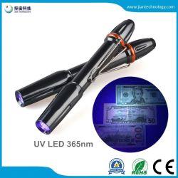 365nm Flitslicht van de UV LEIDENE Licht 365 NM UVPenlight van de Toorts van het Ultraviolette 3W Pen voor de Detector van het Geld
