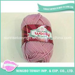 Acrílico tejer del sombrero del invierno de lana pura hilo de tejer