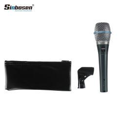Microphone à condensateur de Karaoke Professionnel Sinbosen Beta87un ordinateur de poche micro câblé