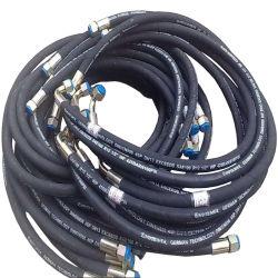 Ultra trenzado de alambre de acero de alta presión o en espiral hidráulico de la manguera de goma flexible de combustible, aceite, gasolina