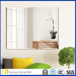 Sin cerco rectangular biselado de espejo de pared ancho espejo alto