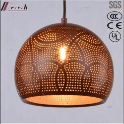 El bronce Metal redondo colgante de huecos de iluminación con comedor