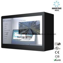 Жк монитор с сенсорным экраном пользовательского стеклянные прозрачные отображения прозрачного стекла