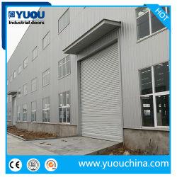 Comercio al por mayor precio barato de acero cubierta arrollable Garaje Puerta de Hierro de metal