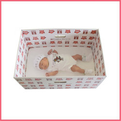 Custom imprimé Papier ondulé Panier Bébé Box
