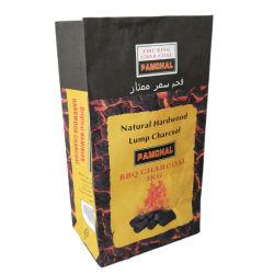 4kg 5kg 11lbs Packpapier-Beutel für Hartholz-Klumpen-Holzkohle-Papierbeutel-Steinkohlenbrikett-verpackenbeutel