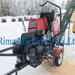 Maison hydraulique 12tonne/ 20tonne/ de l'essence diesel Woodworking Machinery Log séparateur avec scie à chaîne